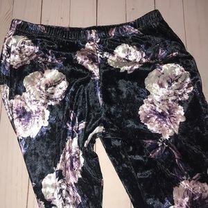 Velvet bellbottom jeans